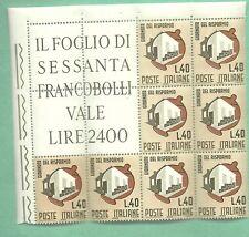 BLOCCO ANGOLARE DI 5 + 3  FRANCOBOLLI NUOVI MNH**  ANNO 1965 Risparmio