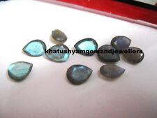 AAA 10 Piece Natural Labradorite 12X16 MM Pear Cut Loose Gemstone