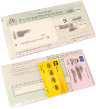 PLASTIC DRIVING LICENCE WALLET HOLDER COVER FOR PHOTO & PAPER D740 NEW