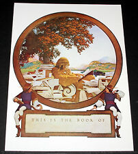 "MAXFIELD PARRISH PORTFOLIO PRINT, 1924 ""THIS IS THE BOOK OF"" LARGE SIZE, 11X15!"