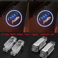 Audi New 2X LED Light 3D Logo Projector Emblem Ghost Shadow Door Welcome Light