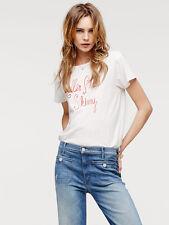 Madre Vaqueros Patín Ruedas Skinny Dirty blanco Little Goodie Camiseta Talla XS