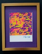 ANDY WARHOL ORIGINAL 1984 SIGNED NUMBERED AWESOME PRINT MATTED 11X14