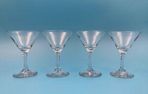 Set of 4 LIBBEY EMBASSY 3771 Martini Cocktail Glasses 5-oz