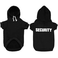 Black SECURITY Small Dogs Winter Clothes Pet Hoodie Jacket Warm Coat Chihuahua