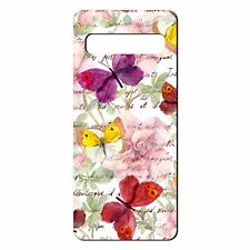 For Samsung Galaxy S10 Silicone Case Butterfly Text Pattern - S5427