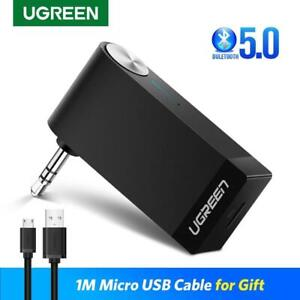 Ugreen Bluetooth Music Receiver 3.5mm Audio Adapter Stereo Car Wireless Aux Mic