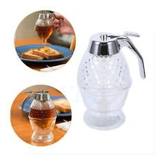 200ML Syrup Honey Dispenser Acrylic Clear Stand Holder Non Drip Bottle Pot  TP