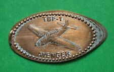 Tbf-1 Avenger elongated penny Usa cent Flying Machines Series coin