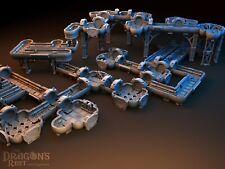 Huge Deck & Tunnels Set Suitable for 25-32mm Science Fiction Wargames Space Hulk