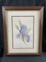 Original Celia Ann Weaver Watercolor Painting Framed Signed
