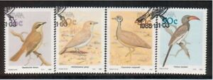 SOUTH WEST AFRICA, USED Scott # 606-09 BIRDS