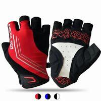 Cycling Gloves Gel Pad MTB Road Bike Racing Sport Half Finger M L XL Mens Xmas