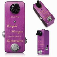 One Control Purple Humper Mid Range Booster Guitar Effect Pedal +Picks