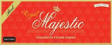 Royal Majestic Red (Full Flavor) King Size Cigarette Tubes 200 Count Box