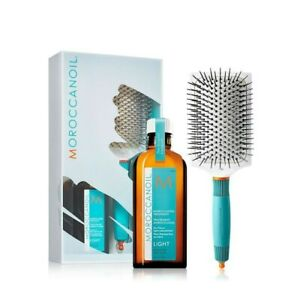 Morroccanoil light hair treatment with brush and free gift shampoo& conditioner