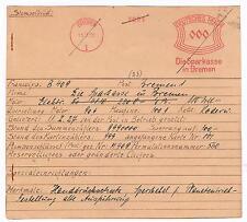 Weihnachtsgeschenk Tannenzweig Kerze Bremen 1927 Sparkasse Archivkarte Unikat