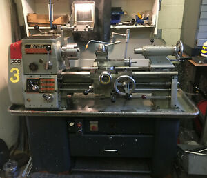 Colchester Bantam Lathe - 240v single phase - Metric Dials - with Accessories