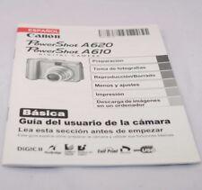 Canon Camera PowerShot A620/A610 Basica Guia Del Usauario Espanol SP