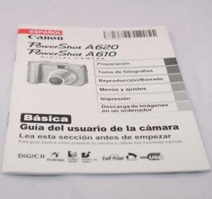 Canon Camera PowerShot A620/ A610 Basica Guia Del Usauario Espanol SP