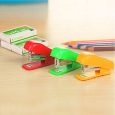 Fashion Home Office Equipment Document Paper Bookbinding Tool Mini Stapler Kit