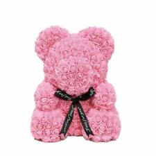Rose Bear Faux Flower 40cm Various Colors Gift for Valentines Day Roses Wife Her