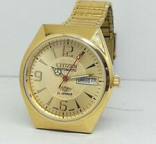 vintage citizen gold plated automatic men's japan made movement No 8200 run orde