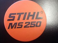 STIHL MS 250 Chainsaw Badge Replacement Plastic OEM Never used NOT A STICKER