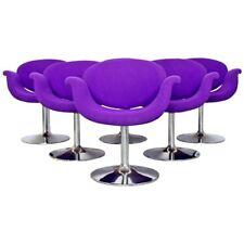 Mid Century Modern Pierre Paulin Artifort Set 6 Tulip Dining Chairs 1960s