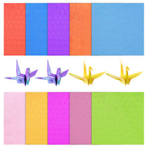 100 Sheets Iridescent Paper 15x15cm Colorful Shiny Gittering Paper