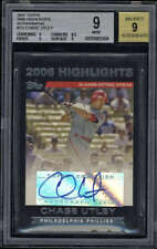 2007 Topps 2006 Highlights Chase Utley #CU BGS MT 9 Auto 9