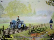 Ferguson Tractor Old Plough, Countryside Farming Village, Medium Metal/Tin Sign