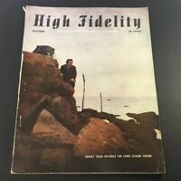 VTG High Fidelity Music Magazine October 1954 - Emory Cook Records / Newsstand