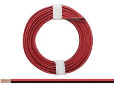5m Kabel Litze Zwillingslitze 2x0,14mm² Rot/Schwarz Doppellitze 5 Meter Ring