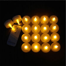 Blinking Electronics LED Flameless Candles Remote Control Glows YELLOW
