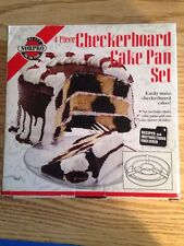 NORPRO 3813 Checkerboard Cake Pan 4 pc Set