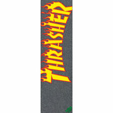 "Mob Skateboard Griptape Thrasher Flame Logo Grip Tape Sheet 9"" x 33"""