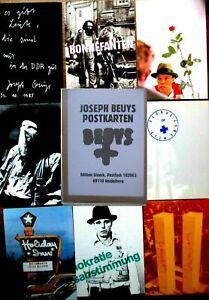 JOSEPH BEUYS >80 Postkarten<Beuys Multiple Originalschachtel, 17x12x3,5 WIE NEU