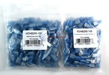 100 Male 100 Female Scosche 16 - 14 Gauge Blue Nylon Quick Disconnects