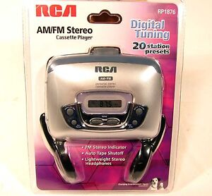 NOS NEW RCA RP1876 AM FM Stereo Walkman Cassette Tape Player Digital Sealed