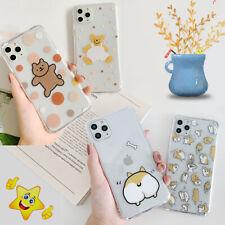 11Pro Cartoon Shiba Inu Bear Clear Soft Cover For iPhone 7 8Plus XR XsMax Cute