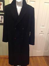 Zilli For Napoleon NY Mens Elegant Black 100% Cashmere Coat  Made In France Sz42