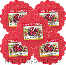 5 Yankee Candle Wax Tartas derrite Red Raspberry compre 2 Save £ 2 tartlets Bayas