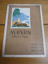 Rare AUBURN 125, 8-95 & 6-85 CAR BROCHURE 1930 jm