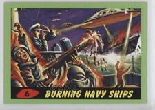 2012 Topps Heritage Mars Attacks! Green 6 Burning Navy Ships Non-Sports Card 5d7