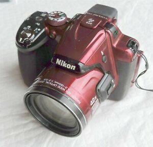 Nikon COOLPIX P520 18.1MP Digital Camera,Open Box - Red