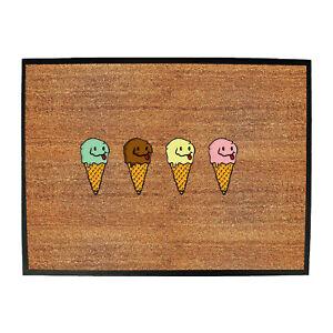 Ice Cream 4 Flavours - Shed Bar Man Cave Novelty Funny Gift Door Mat Doormat