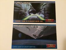 Star Wars Topps Widevision 1994 Card Cards Promo Lot SWP3 SWP4 (P3 P4)