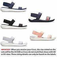 Crocs LiteRide Relaxed Fit Women Sandals in Black, Grey & Blue 205106