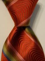 ROBERT TALBOTT Best of Class Men's Silk Necktie Designer STRIPED Multi-Color EUC